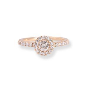 リング エンゲージリング 婚約指輪 ヘイロー ダイヤモンド レディース k18 18金 18k k1...