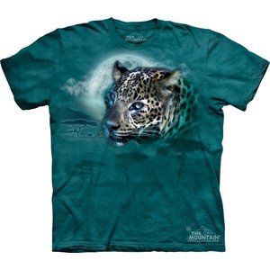 Tシャツ The Mountain: Leopard Moon (メンズ ヒョウ ユキヒョウ)|avees