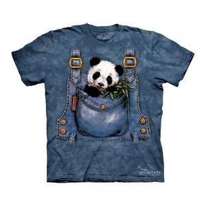 Tシャツ The Mountain: Panda in Overalls (キッズ 動物園 パンダ)|avees