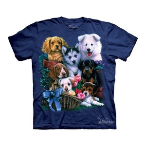Tシャツ The Mountain: Puppy Collage (キッズ イヌ 子犬)|avees