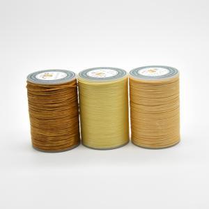 ロウ引き糸 蝋引き糸 ワックスコード レザークラフト 太さ 0.8mm 長さ 60m 3個セット|avekt