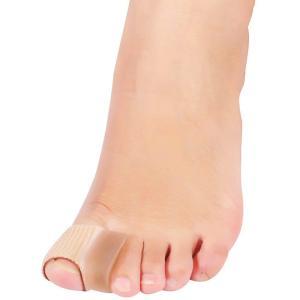 足の指の歪み、曲がりにより感じる痛みを軽減できる 外反母趾サポーター。4つセット。    【優しくフ...
