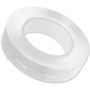 粘着 両面テープ 透明 ゲル素材 強力 繰り返し使える ベタつかない 収納 固定 地震対策 滑り止め (3cm×2mm×5m)|avekt