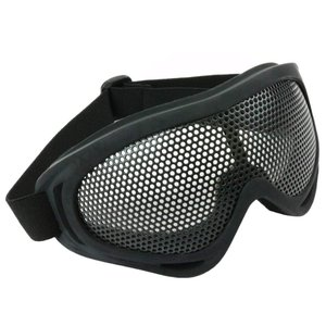 タクティカル メッシュ ゴーグル サバゲー装備 メガネ 保護 スチールメッシュ 通気性 曇らない フェイス用 サバイバルゲーム (ブラック)|avekt