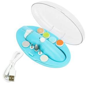電動ネイルケア ベビー爪切り 爪やすり 静音 コンパクト設計 9種のアタッチメント付属 赤ちゃんから大人まで 男女兼用 専用ケース付き (ブルー) avekt