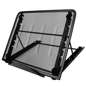 6段階調整 スタンド トレース台 ノートパソコン タブレット iPad 折り畳み式 メッシュ構造 放熱対策|avekt
