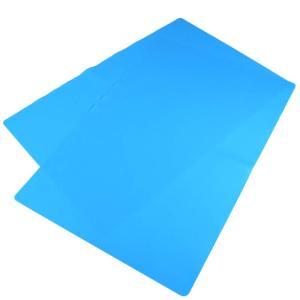 大きい シリコン ゴムマット ランチョンマット 2枚 多用途 柔らかい クッション性 耐熱性 傷防止 (60cm×40cm, ブルー)|avekt