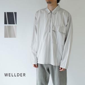 WELLDER  / ウェルダー / 2019AW / 長袖シャツ / HALF ZIP PULLO...
