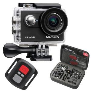 送料無料 MUSON アクションカメラ 4K 防水 2インチ...