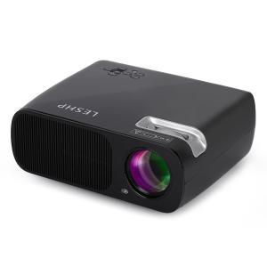 送料無料 プロジェクター 3200ルーメン 1080P 800/480解像度 パソコン スマホ タブレット USB SDカード入力可能 HDMIケーブル付 AKM-043