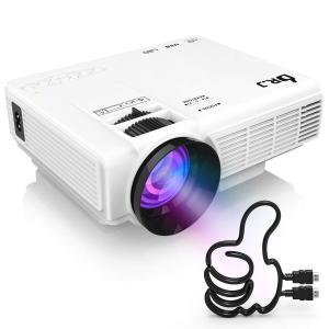 送料無料 LED プロジェクター 小型 1800ルーメン 1080PフルHD対応 HDMIケーブル付属 台形補正 パソコン/スマホ/タブレット/ゲーム機など接続可能 AKM-064