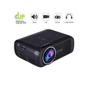 送料無料 小型 LED プロジェクター 3000lm 高解像度 1080フルHD 画面調整可能 HD...