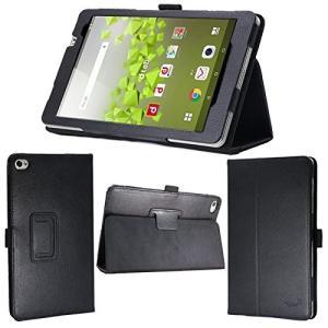 送料無料 ブラック 8インチ タブレット ケース 保護フィルム付 docomo dtab Compact d-02H カバー|avenir7