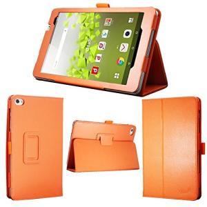 送料無料 オレンジ 8インチ タブレット ケース 保護フィルム付 docomo dtab Compact d-02H カバー|avenir7