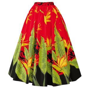 在庫限りセール フラドレス フラダンス ロングスカート  SK508-2-3533 フラロングスカート パウスカート フラ衣装