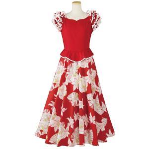 フラダンス フラドレス ムームー ペプラムドレス OP418-1-3524 フラダンス衣装 フェステ...