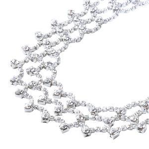 アクセサリー ネックレス ラインストーン 3連 結婚式 発表会 GD182-2681 ステージ衣装 avivare