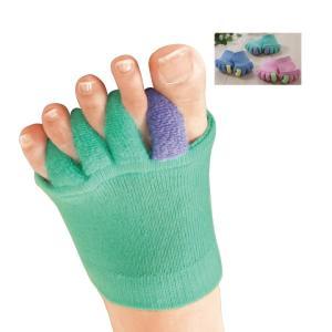 外反母趾対策 足指ストレッチ ふわふわ足指カバー3色組 パイル編み 足ケア Z0711|avivare