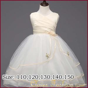 発表会 ドレス 結婚式 カットスリーブ 清楚 キッズ ドレス フォーマル キッズ 110 120 130 140 150 ベージュ ホワイト レッド 七五三 ワンピース|avivi