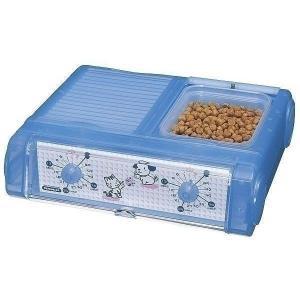 山佐時計計器 ペット自動給餌器 わんにゃんぐるめ クリアブルー CD-400(CBL)〔ペット用品〕《健康快適生活応援》