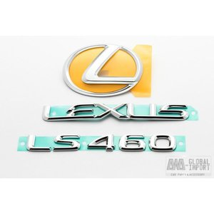 北米レクサス LS460 エンブレムセット リア3点 40系|awaglobalimport