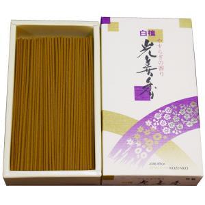 天然白檀粉たっぷりと使用しておりおだやかで、リラックスできる良い香りのお線香となっております。生薬等...