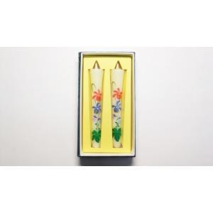 絵ろうそく 3月のお花菫「スミレ」絵ろうそく。菫手書き絵ローソク2本入。仏壇用・インテリア用 awaji-baikundou