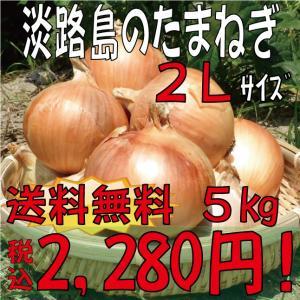 【贈答品・ギフトにどうぞ♪】淡路島玉ねぎ 2Lサイズ5kg 【送料無料】玉ねぎの本場、淡路島から産地直送♪リピーター続出!りぴたま♪|awaji-gift