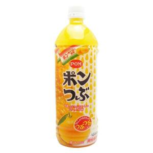 POM ポンつぶ 1000ml 6本入 1ケース 【2ケースまで同梱可能!】|awaji-gourmet