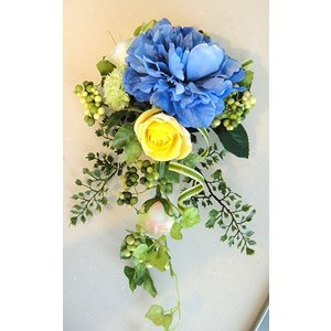 カベフルーリ アクアブルー 安全で簡単に部屋に花を飾れる「大改造!!劇的ビフォーアフター」の匠デザイン監修【アタッチメントつき】|awaji-waka
