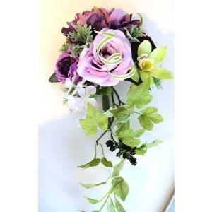 カベフルーリ カシス・パープル 安全で簡単に部屋に花を飾れる「大改造!!劇的ビフォーアフター」の匠デザイン監修【アタッチメントつき】|awaji-waka