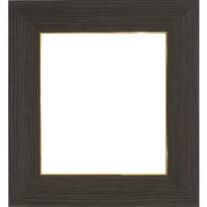 額縁 色紙額4860 ブラック /ガラス付き/木製/8×9寸/273×242mm|awajigaku