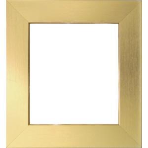 額縁 色紙額4860 ゴールド /ガラス付き/木製/8×9寸/273×242mm|awajigaku