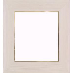 額縁 色紙額4860 ホワイト /ガラス付き/木製/8×9寸/273×242mm|awajigaku