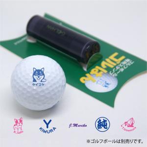 ゴルフボールスタンプ ゴルはん オウンネーム イラストサンプルから作成  専用補充インク付属 スタンプ オーダー 作成 名入れ|awake