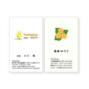 カラー名刺 縦型・ロゴ入り【100枚単位】 / 名刺ケース1個付属 / ビジネス 趣味 プライベート お店 会社|awake