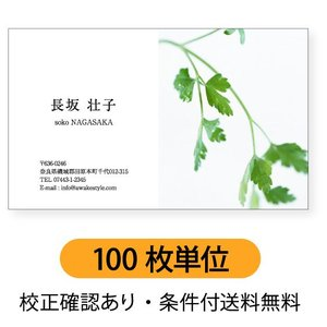 写真名刺 写真を右半分に配置【100枚単位】 名刺ケース1個付属 / ビジネス 趣味 プライベート お店 会社|awake