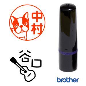 手書きスタンプ 10mm円  ブラザーネーム10タイプ brother name10 浸透印 スタンプ台不要 連続捺印可能 スタンプ オーダー 作成|awake