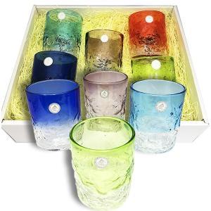 新デコボコグラス大カラーが選べる5色セット(ラッピング無料) グラス  琉球ガラス  沖縄ギフト  沖縄お土産 お中元|awamori-zizake