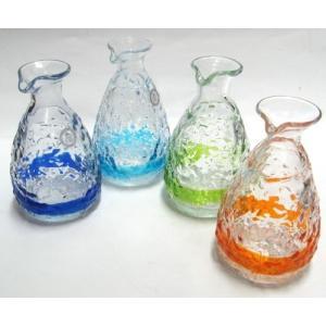 ティーダとっくり1合(各色) 「酒器・琉球ガラス」 10P01Mar15|awamori-zizake