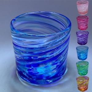 琉球ガラス:美ら海ロックグラス(全7色):源河源吉|awamori-zizake