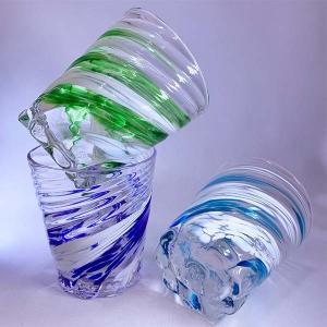 【琉球ガラス】星型モールグラス(ピンク・黄・紫・ワインレッドから選択):源河源吉【P15Aug15】|awamori-zizake