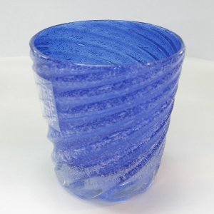 琉球ガラス 泡星型モールグラス(青・水・緑・白から選択):源河源吉|awamori-zizake