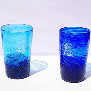 琉球ガラス:コバルトビアグラス(全2色):源河源吉|awamori-zizake