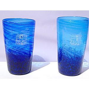 琉球ガラス:コバルトタンブラー(全2色):源河源吉|awamori-zizake
