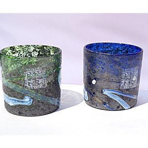 琉球ガラス:ニューコーラルシーロックグラス(全2色):源河源吉|awamori-zizake