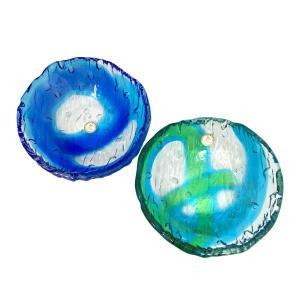 ゴーヤー鉢 グラス  琉球ガラス  沖縄ギフト  沖縄お土産|awamori-zizake