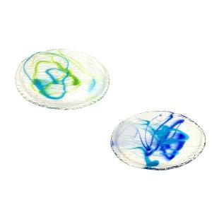 ゴーヤー皿L グラス  琉球ガラス  沖縄ギフト  沖縄お土産|awamori-zizake
