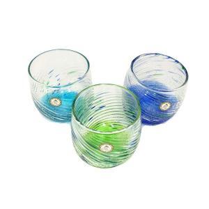 群星モールグラス(暗闇で光ります):琉球ガラス村 グラス  琉球ガラス  沖縄ギフト  沖縄お土産|awamori-zizake