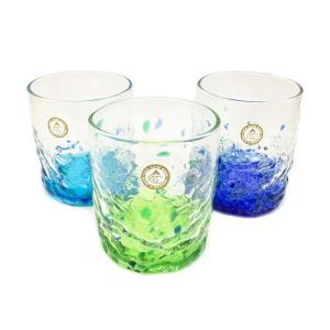 群星ロックグラス:琉球ガラス村 グラス  琉球ガラス  沖縄ギフト  沖縄お土産|awamori-zizake